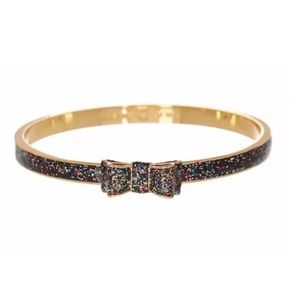 KATE SPADE • Ready Set Bow Glitter Bangle Bracelet